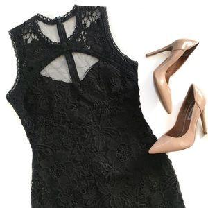 DAINTY HOOLIGAN • empress black lace mini dress
